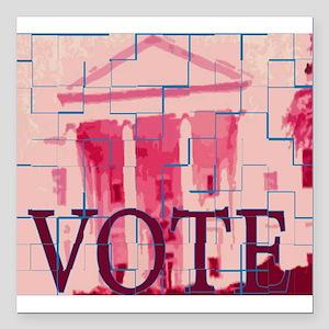 """votes Square Car Magnet 3"""" x 3"""""""