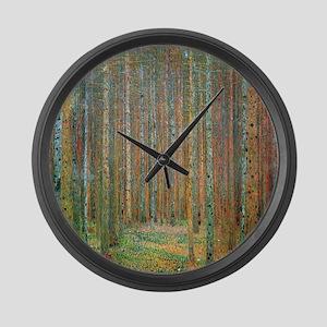 Gustav Klimt Pine Forest Large Wall Clock
