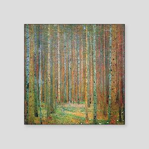 """Gustav Klimt Pine Forest Square Sticker 3"""" x 3"""""""