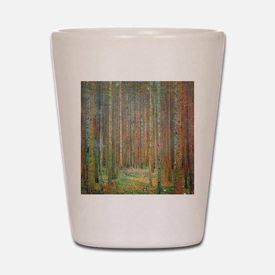 Gustav Klimt Pine Forest Shot Glass