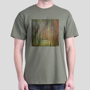 Gustav Klimt Pine Forest Dark T-Shirt