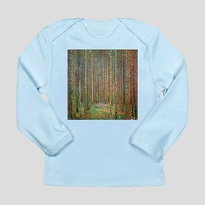 Gustav Klimt Pine Forest Long Sleeve Infant T-Shir
