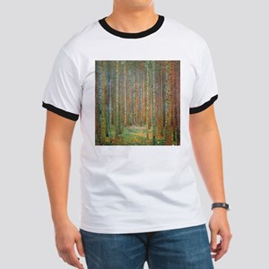 Gustav Klimt Pine Forest Ringer T