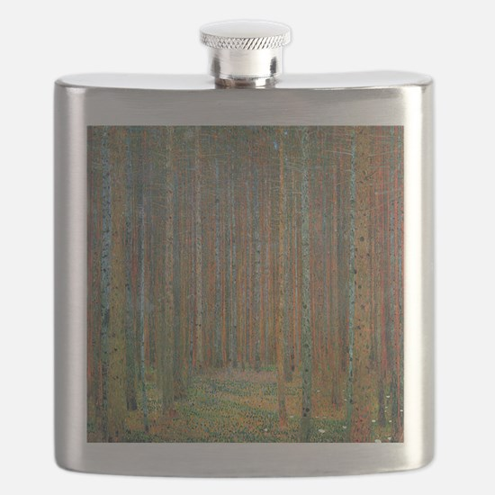 Gustav Klimt Pine Forest Flask