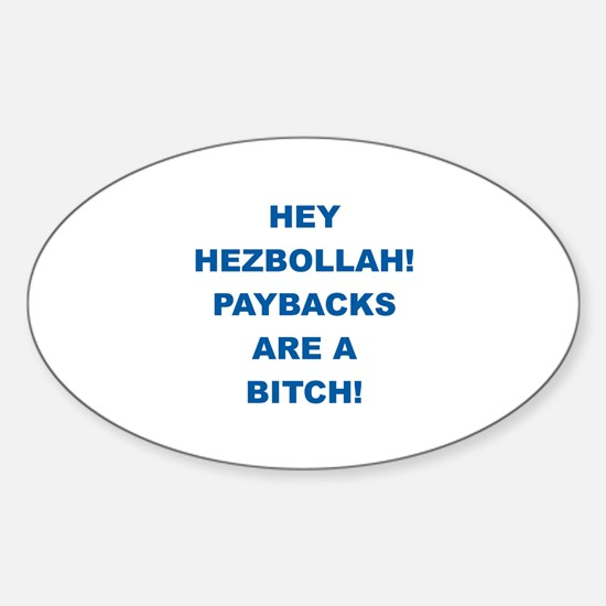 Thank You Israel Oval Decal
