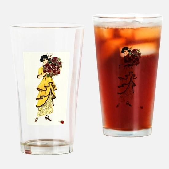 YellowRose Drinking Glass