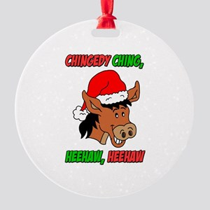 italian christmas donkey round ornament - Dominic The Christmas Donkey