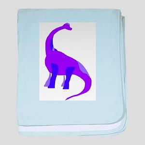 Purple Brachiosaurus baby blanket