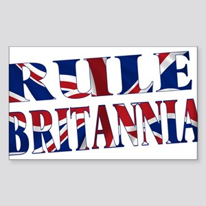 Rule Britannia Sticker (Rectangle)