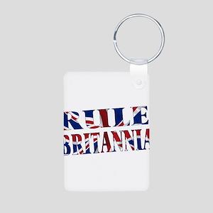 Rule Britannia Aluminum Photo Keychain