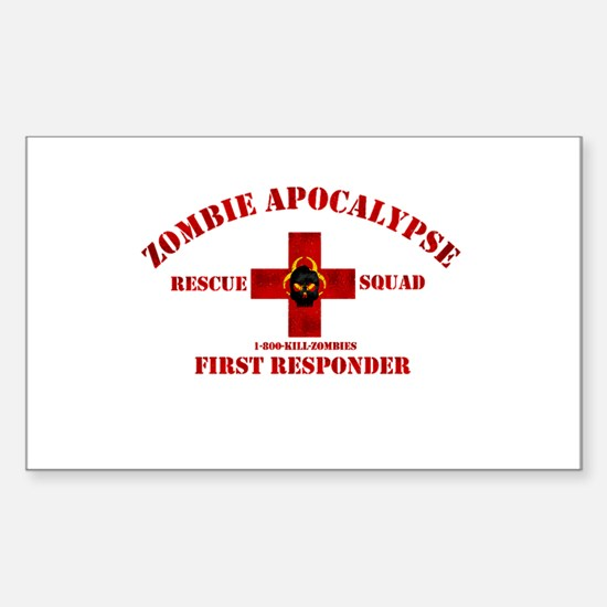 Zombie Rescue Squad Sticker (Rectangle)