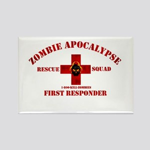 Zombie Rescue Squad Rectangle Magnet