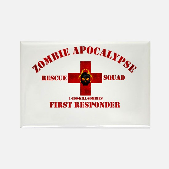 Zombie Rescue Squad Rectangle Magnet