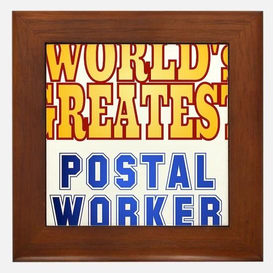World's Greatest Postal Worker Framed Tile