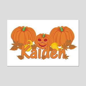 Halloween Pumpkin Kaiden Mini Poster Print
