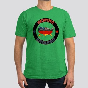 German American Flags Map Men's Fitted T-Shirt (da