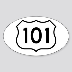 U.S. Route 101 Oval Sticker