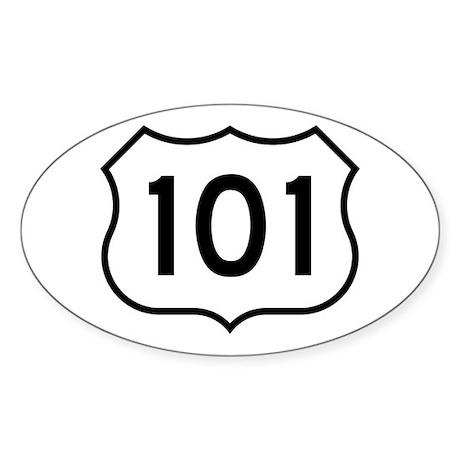 U.S. Route 101 Oval Sticker