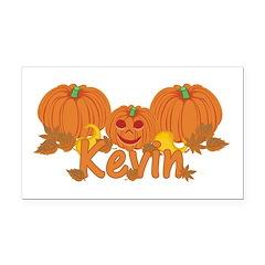 Halloween Pumpkin Kevin Rectangle Car Magnet