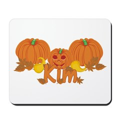Halloween Pumpkin Kim Mousepad