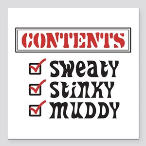 """Funny Sports © Contents Square Car Magnet 3"""" x 3"""""""