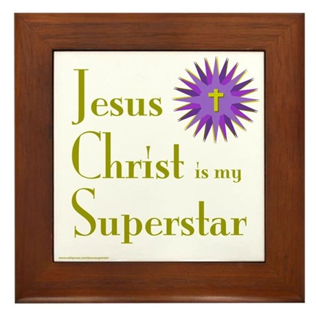 JESUS SUPERSTAR Framed Tile