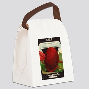 Beet Vintage Seed Packet Art Canvas Lunch Bag