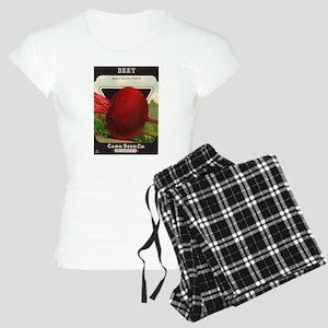 Beet Vintage Seed Packet Ar Women's Light Pajamas