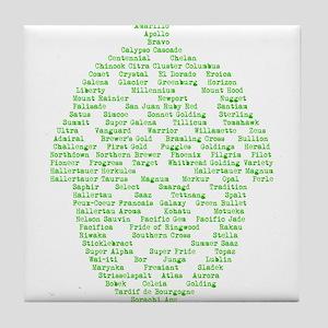 Hops of The World Tile Coaster