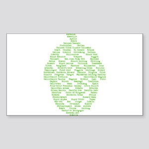 Hops of The World Sticker (Rectangle)