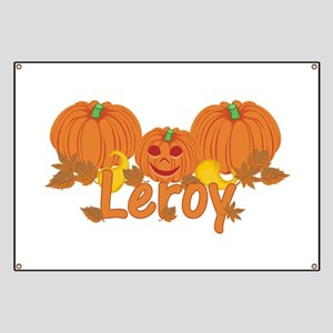 Halloween Pumpkin Leroy Banner
