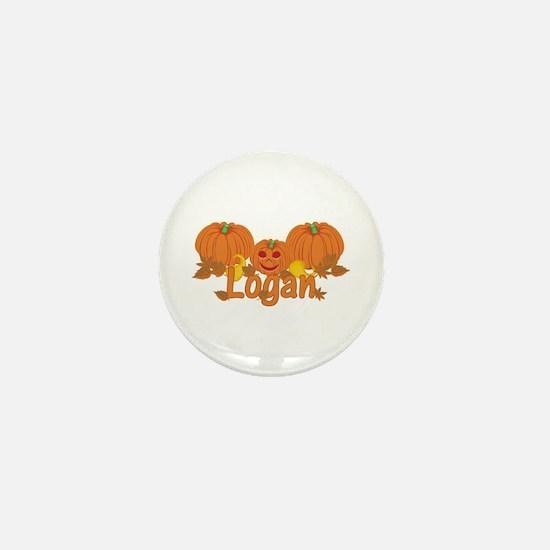 Halloween Pumpkin Logan Mini Button
