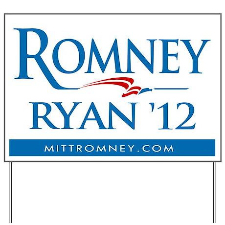 Romney - Ryan '12 Yard Sign
