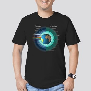 Earths atmosphere and Ionosphere Men's Fitted T-Sh