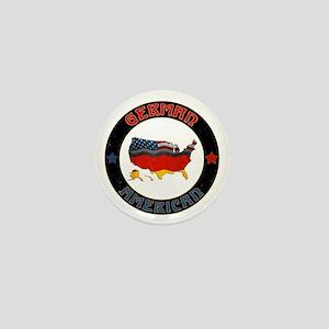 German American Flags Map Mini Button