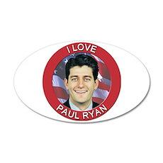 I Love Paul Ryan Wall Decal