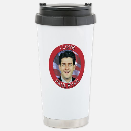 I Love Paul Ryan Stainless Steel Travel Mug