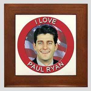 I Love Paul Ryan Framed Tile