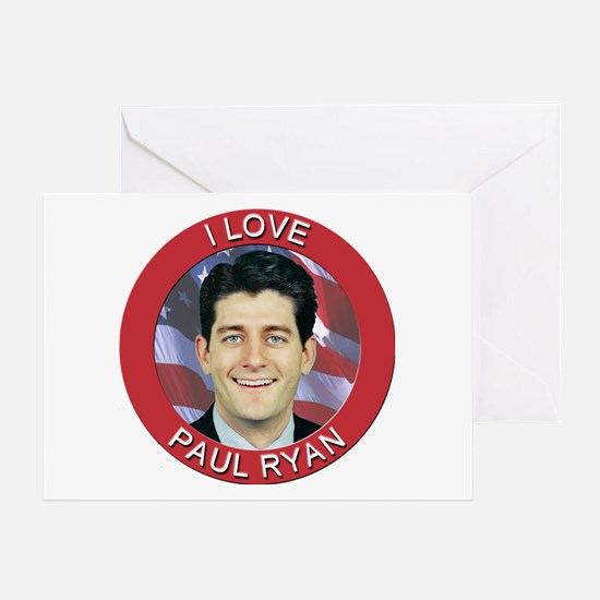 I Love Paul Ryan Greeting Card