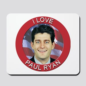 I Love Paul Ryan Mousepad