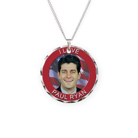 I Love Paul Ryan Necklace Circle Charm