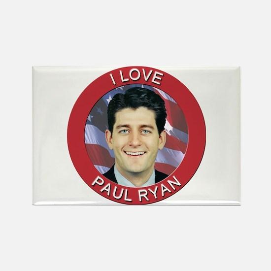 I Love Paul Ryan Rectangle Magnet