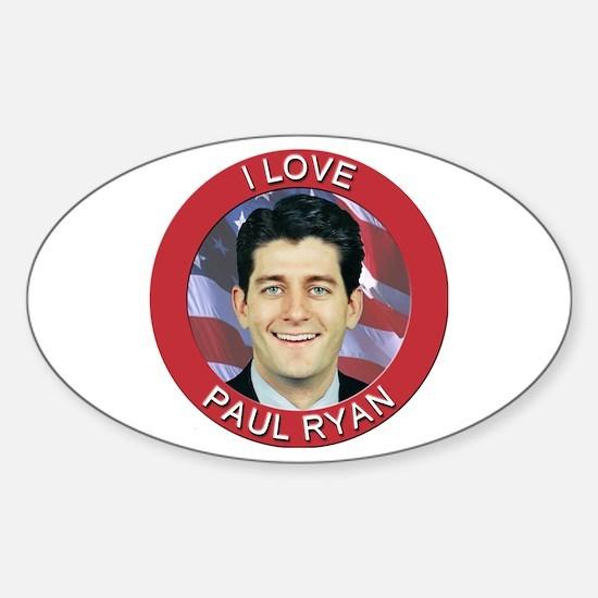 I Love Paul Ryan Sticker (Oval)