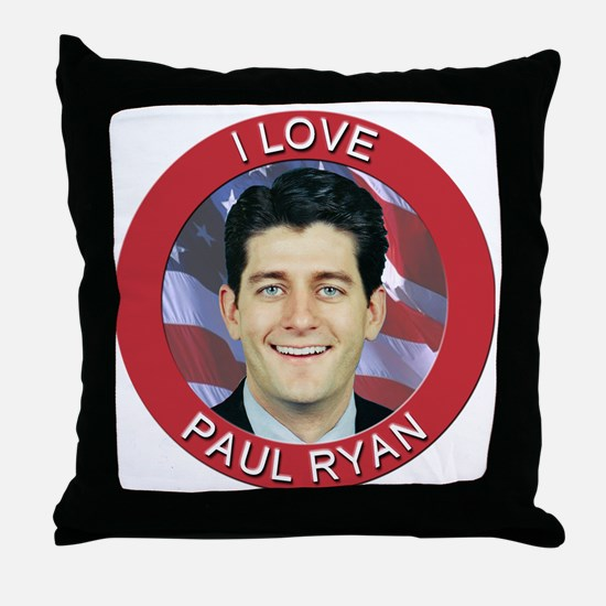 I Love Paul Ryan Throw Pillow