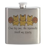 One by one, the squirrels Flask