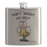 Don't Worry Bee Flask