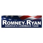 Romney Ryan Sticker (Bumper)