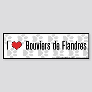 I (heart) Bouviers de Flandres Bumper Sticker
