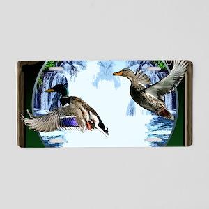 Duck hunter Aluminum License Plate
