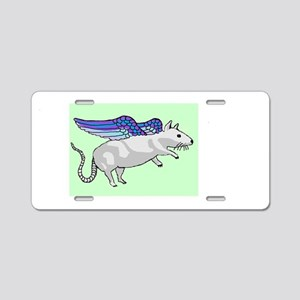 flying rat Aluminum License Plate